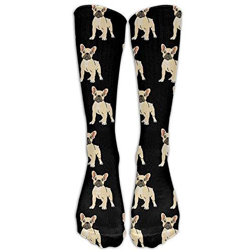 Benutzerdefinierte lustige Strümpfe französische Bulldogge schöne Neuheit Premium Kalb Fashional Tube Mädchen Jungen Knie lange Socken Reisen atmungsaktiv (Wigwam-tube-socken)