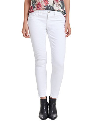 ONLY Damen Jeans-Hose Regular Ankle Skinny-Jeans Weiß