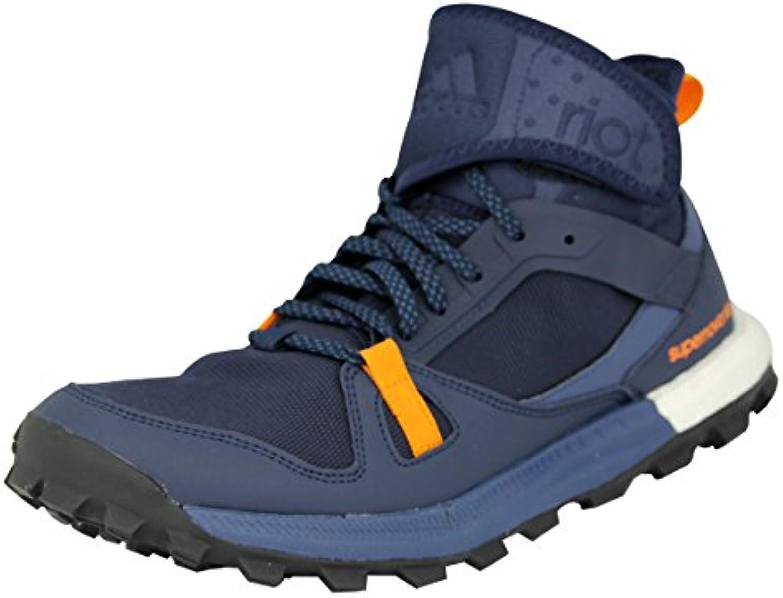 Adidas Supernova Riot M, Zapatillas de Running para Hombre, Negro/Azul/Naranja (Maruni/Azumin/Eqtnar), 43 1/3 EU