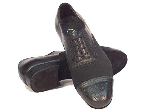 Vitiello Dance Shoes  291B Nabuk Nero / Nappa Nero t20 fondo crosta, Chaussons de danse pour homme Noir Nero Noir - Nabuk Nero / Nappa Nero