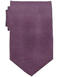Übergrößen Krawatte in Einheitsgröße 168cm, 100% Seide - rot/grau