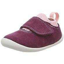Clarks Unisex Kids' Roamer Seek Low-Top Slippers, Brown (Plum Suede Plum Suede), 3 UK