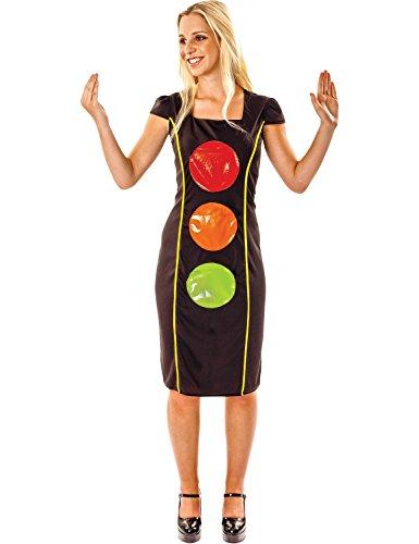 Erwachsene Frauen Komödie Ampel Neuheit lustiges Verkleidung Kostüm (Kostüm Ampel Kostüm)