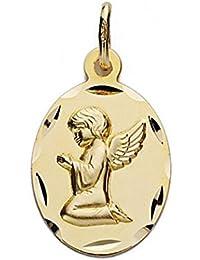Medalla oro 18k Ángel de la Guarda 19mm. oval [9067GR] - Personalizable - GRABACIÓN INCLUIDA EN EL PRECIO
