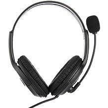 Dual Auriculares USB 2.0 Casco Headset con Micrófono Para PS3 Juegos Negro