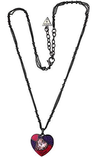 Gioielli di guess mosaico grande collana con ciondolo a forma di cuore