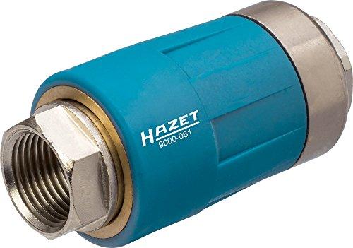 Preisvergleich Produktbild HAZET Sicherheitskupplung (passend für alle Luftanschlussnippel, sichere Trennung der Verbindung, 3/8 Zoll (16,41 mm) Innengewinde) 9000-061