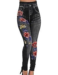Wenyujh Damen Jeanshose Denim Jeans Bleistift Hose Stretch Hose Ripped mit  Löchern Bluemn Stickerei Hoch Taille f3bdfd6af0