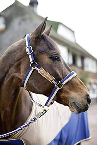 HKM SPORTS EQUIPMENT Lauria Garrelli Halfter -Roma-, beige/m.blau, Pony