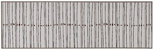 Viva La Cucina Tappeto, Materiale Sintetico, Grigio, 57x200x1.14 cm