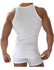 5 x Herren Unterhemd Doppelripp Sportjacke - 100% gekaemmte Baumwolle - Highest Standard - Einlaufvorbehandelt