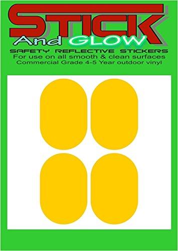 Reflektierende Helm Sticker/Aufkleber X4Frankreich/Französisch Gesetz (gelb) | PILLENFORM