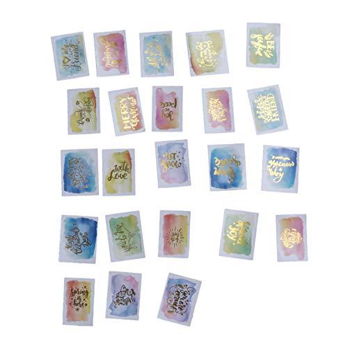 SUPVOX Washi Papier Aufkleber dekorative selbstklebende Aufkleber tropischen Stempeln Abziehbilder für Kinder Kinder Scrapbooking liefert 5er Pack -