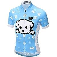 LSHEL Rueda equipación de Bicicleta Camiseta Manga Corta + Pantalones con Asiento Acolchado