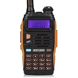 Dispositivo de radiocomunicación Baofeng para radioaficionados GT-3TP GT-3 TP Dualband VHF/UHFcon pantalla LCD. Walkie-talkie PMR CTCSS/CDCSS con micrófono y cable USB