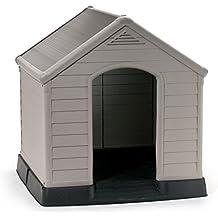 Keter 221088 - Caseta de perro, suelo elevado, sistema de ventilación