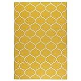 IKEA Asien Stockholm Teppich, gewebt, handgefertigt, Netzmuster, Gelb