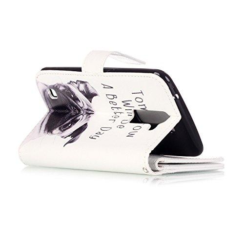 Cover per iPhone 6s Custodia in Pelle Rose,TOCASO Luccichio Diamante Premium di Cuoio del Raccoglitore Cover per iPhone 6/6S Sottile Custodia Stile Libro Portafoglio Colorato Bling Glitzer Flip Wallet Dog