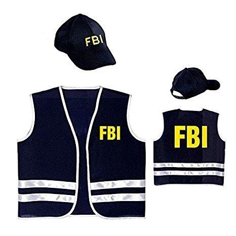 Widmann wdm58958–Kostüm Agent FBI, blau, One Size (Fbi Agent Kostüm Weste)