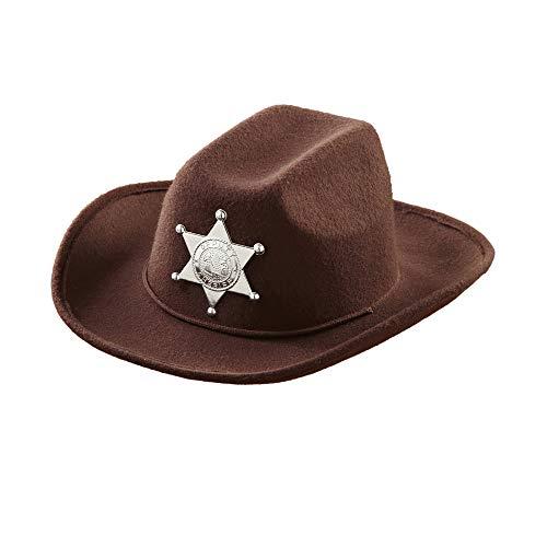 Widmann 0489Q Kinderhut Cowboy, Unisex-Kinder, Braun, One Size