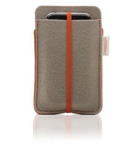 redmaloo Filz-Tasche für iPhone 4 / 4S / 3GS / iPod, grau
