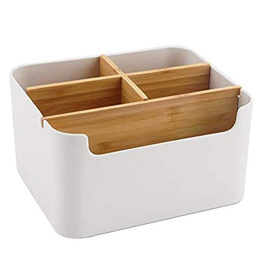 Seasaleshop Holz Desktop Stift, Schreibtisch Organizer Bambus Tisch Organizer Set Büro Schreibtisch Organizer Bleistift, Handy, Büro & Home Fernbedienung Aufbewahrungsbox (Desktop-bleistift-organizer)