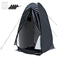 WOLFWILL Portable Pop Up Privacy Shower Tent - 4' x 4' x 6.6'(H) Dressing Changing Tent - Beach Camp Toilet Shower Changing Room Spacious Outdoor Shelter with Carrying Bag (Black) 27