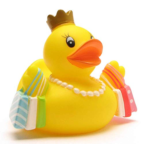 Badeente Shopping-Queen I Quietscheente I Duckshop I L: 8 cm