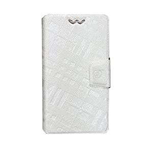 Jo Jo Cover Krish Series Leather Pouch Flip Case With Silicon Holder For Xiaomi Hongmi 1S White