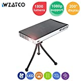 WZATCO 100WM Mini Portable Android 1080P Home Projector Multimedia HDMI USB