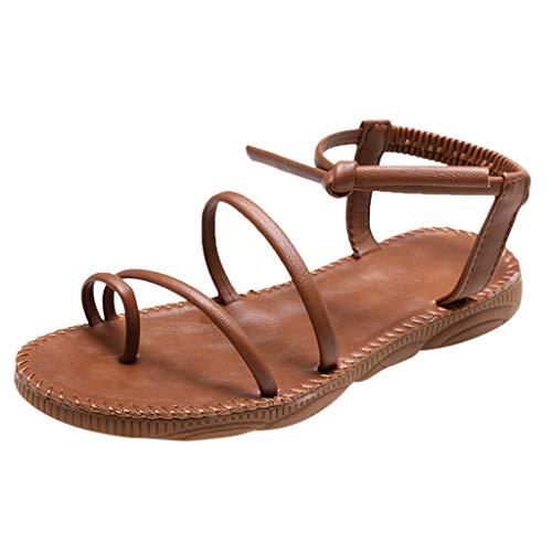 NNVNN Damen Freizeit Flache Schuhe Dünner Gürtel Beam Fuß Sandalen Kein Geruch Hausschuhe -