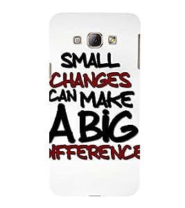 Fuson Designer Back Case Cover for Samsung Galaxy A8 (2015) :: Samsung Galaxy A8 Duos (2015) :: Samsung Galaxy A8 A800F A800Y (Smaal Changes Big Differences Betterment Improvement Success)