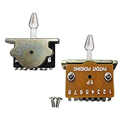 5 Way Pickup Selector Switch For Fender Stratocaster Electric Guitars - White Tip