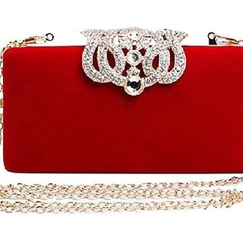 Da Wu Jia Ladies borsetta di alta qualità di lusso donne formale di velluto / Casual / evento/parte / Matrimoni Borsa serale , blu scuro