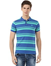 Classic Polo Striped Blue Polo T-shirt For Men