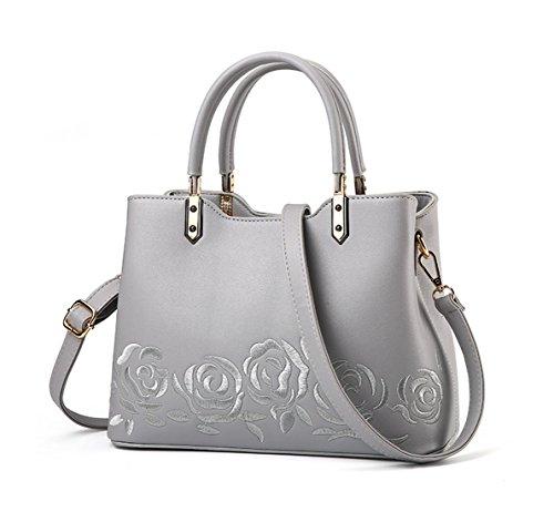 Maibaoma Pu Niedlich Damen Handtaschen, Hobo-Bags, Schultertaschen, Beutel, Beuteltaschen, Trend-Bags, Velours, Veloursleder, Wildleder, Tasche Grau