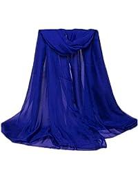 Auxo Femmes Foulards en Mousseline de soie écharpes Large Multifonction Plage Long Scarves Châle
