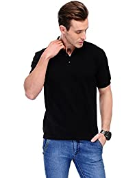 B&W Organic Cotton Polo T-Shirt - Black