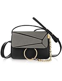 Unique Bargains Women's Paneled Adjustable Straps Flap Chain Loop Crossbody Bag - B07FL8JSZK