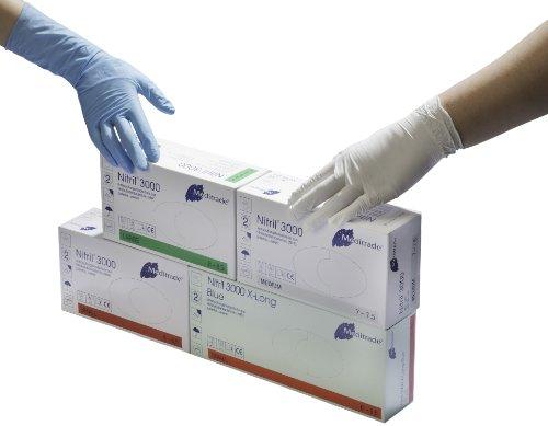 Meditrade Nitril 3000 weiß puderfrei Untersuchungshandschuhe 1000 Einmalhandschuhe - Größe L