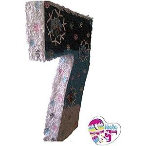 Pinata No. 7. Nummer Piñata. Piñata 7. Gefrorene Pinata(Optionaler Stick)
