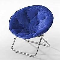 كرسي صحني مايكرومنك مع إطار معدني من أوربان شوب قياس واحد ازرق