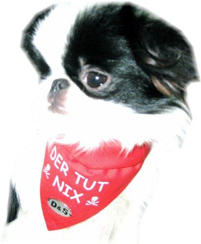 Artikelbild: Halstuch 'Der tut nix' Gr. 1 für kleine-mittlere Hunde