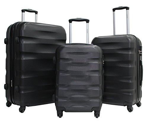 Set di 3 valigie -Trolley ALISTAIR Fly -55-65-75 cm - ABS ultra leggero - 4 ruote