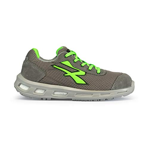 U POWER Summer S1p SRC Scarpe Antinfortunistiche Unisex-Adulto, Verde (Vert 000) 42 EU