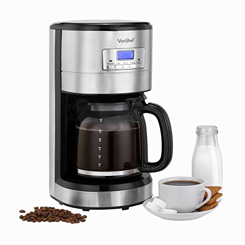 Programmable Filter Coffee Maker : VonShef 1000W Programmable Digital Filter Coffee Maker