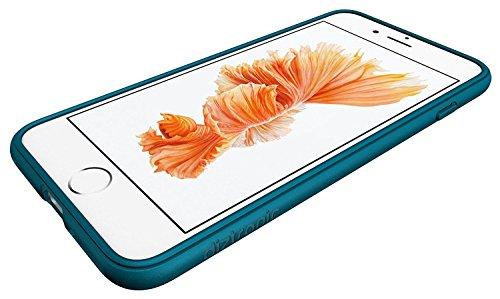 Coque iPhone 7 Plus, Diztronic Full Matte TPU Case for Apple iPhone 7 Plus - (Matte Purple) Pixlee Teal Blue