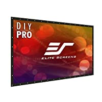 "Elite Screens Elite Screens DIY PRO, Indoor Outdoor Portable Projector screen PVC 160-inch 16:9, 8K 4K Ultra HD 3D Movie Theater Cinema 160"" Projection Screen with Grommets, Roll-Up Hang Anywhere, DIY"