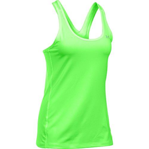 Under Armour Damen Fitness UA Stripe Racer Tank T-Shirts & Tanks, Lime Light, L