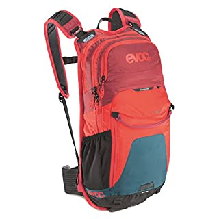 EVOC Sports GmbH Stage Performance Rucksack, Petrol/red / Ruby, 50 x 28 x 9 cm, 12 Liter